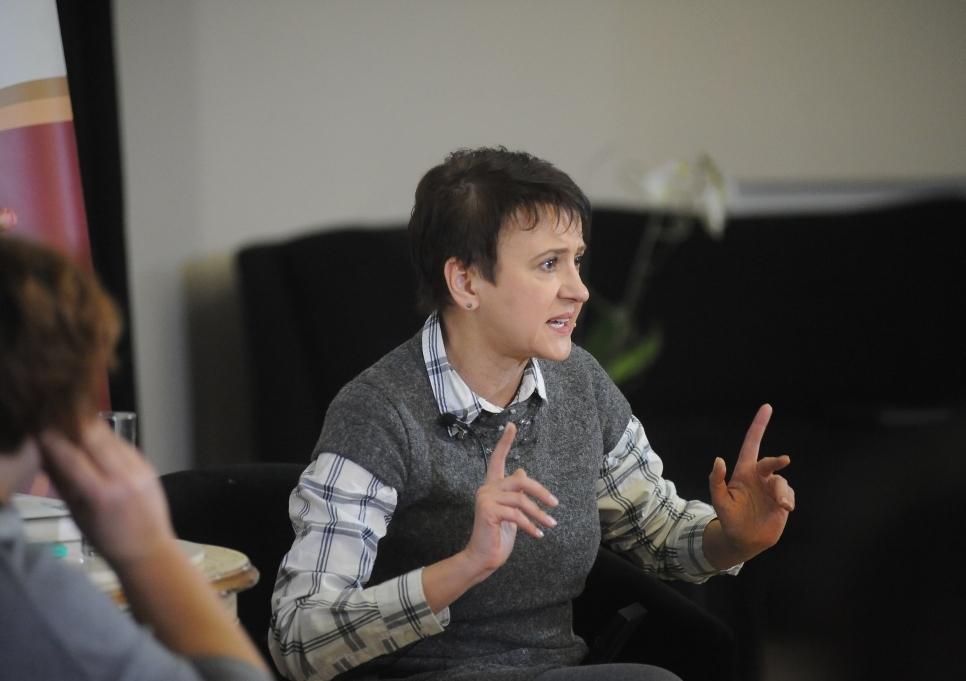Оксана Забужко на зустрічі