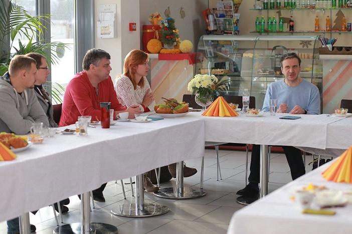 Inspiring breakfast with Pavlo Sheremeta